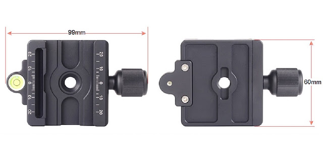 Sunwayfoto MAC-14 QR Clamp - dimensions