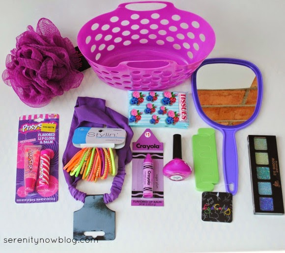 A Girly Gift Basket for a a Budding Tween
