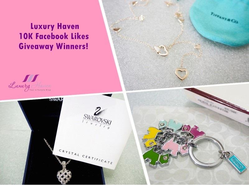 facebook 10k likes giveaway tiffany swarovski pendant