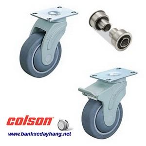 Bánh xe cao su càng nhựa mặt đế Colson chịu lực 70 ~ 100kg www.banhxedayhang.net