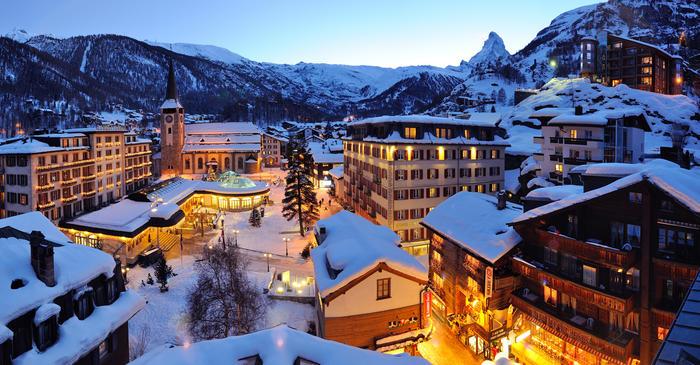 Zermatt Canton of Valais Sci  Svizzera