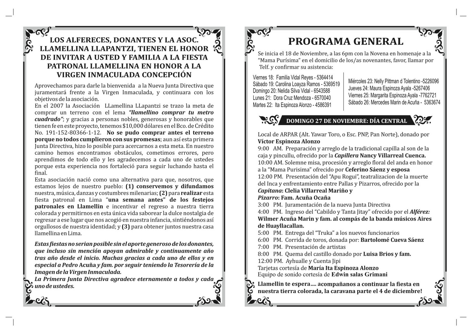 Asociacion Llamellina Llapantzi En Lima La Fiesta Patronal