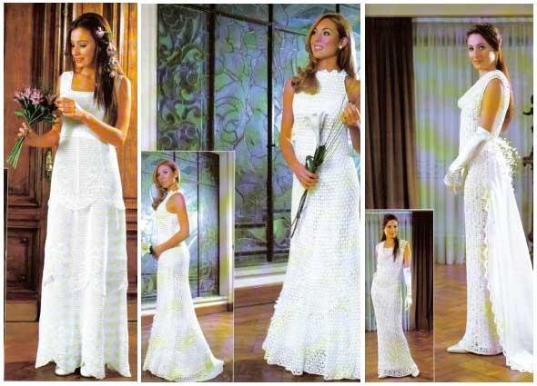 vestidos bodas, vestidos fiestas, vestidos para casarse, ganchillo, crochet