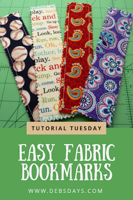 Homemade Quick and Easy Fabric Bookmarks Sewing Project