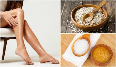 remèdes exfoliants pour blanchir vos genoux