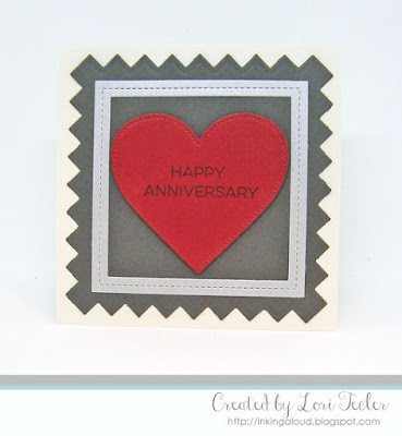 Happy Anniversary card-designed by Lori Tecler/Inking Aloud-stamps from My Favorite Things