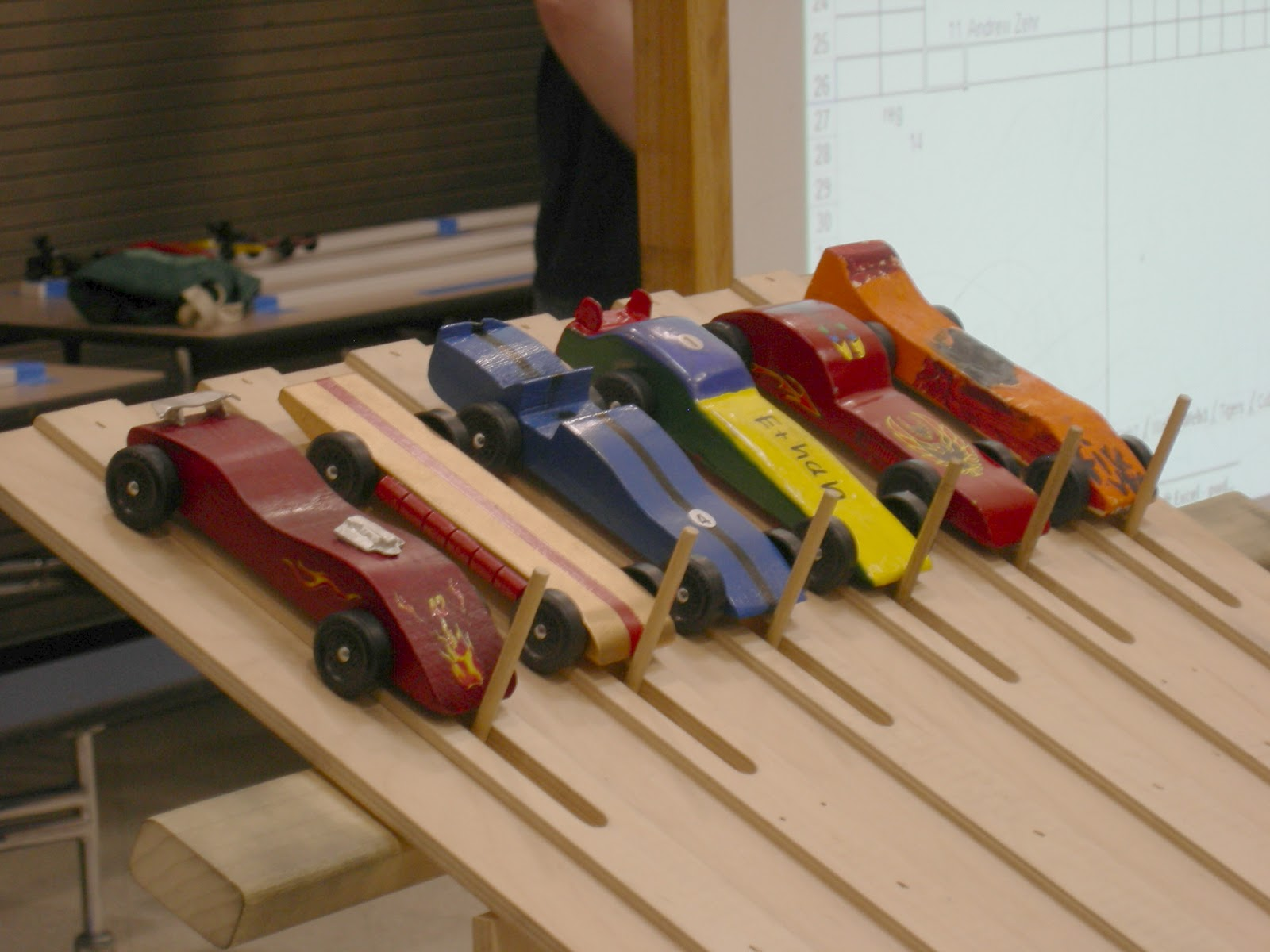 Wooden Block Car Races