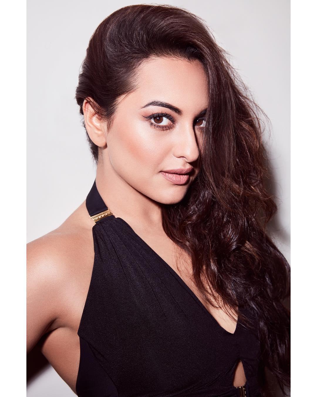 Actress Sonakshi Sinha Wet In Black Dress Glam Pics  Latest