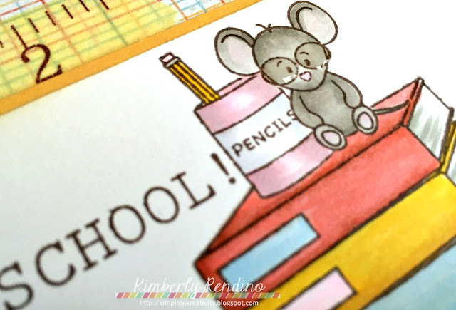 back to school | handmade card | papercraft | masking | masking paper | mouse | papercraft | papercrafts | stamping | clear stamps | whimsy stamps | kimpletekreativity.blogspot.com