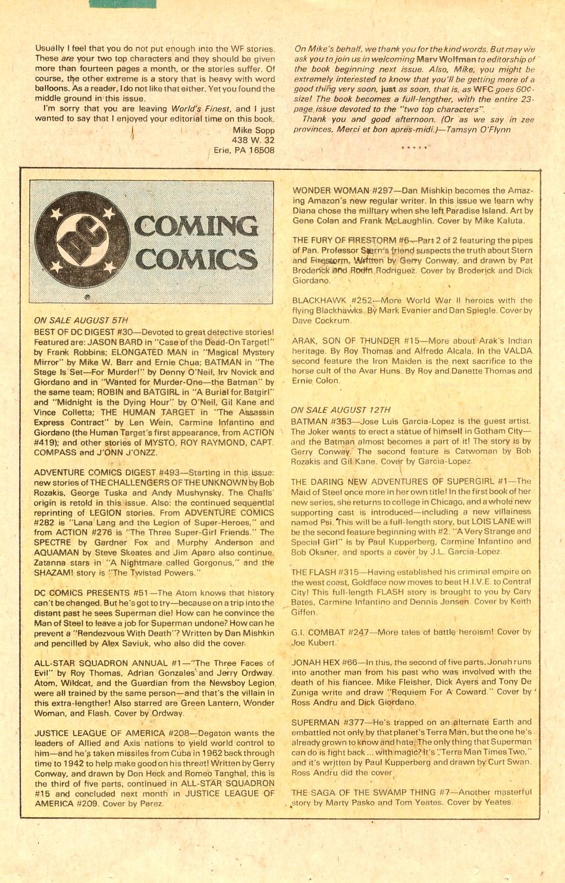 Read online World's Finest Comics comic -  Issue #284 - 22