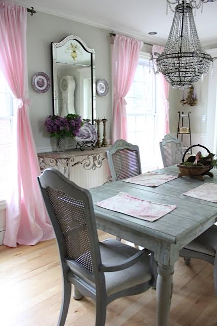 Maison Decor Pink Linen Curtains For My French Dining Room