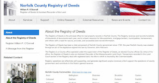 Norfolk County Register of Deeds - screen grab