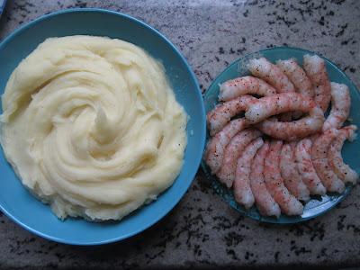 Tarta de patata y gambones Thermomix