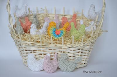 Szydełkowe wiosenne ptaszki - darmowy schemat wykonania