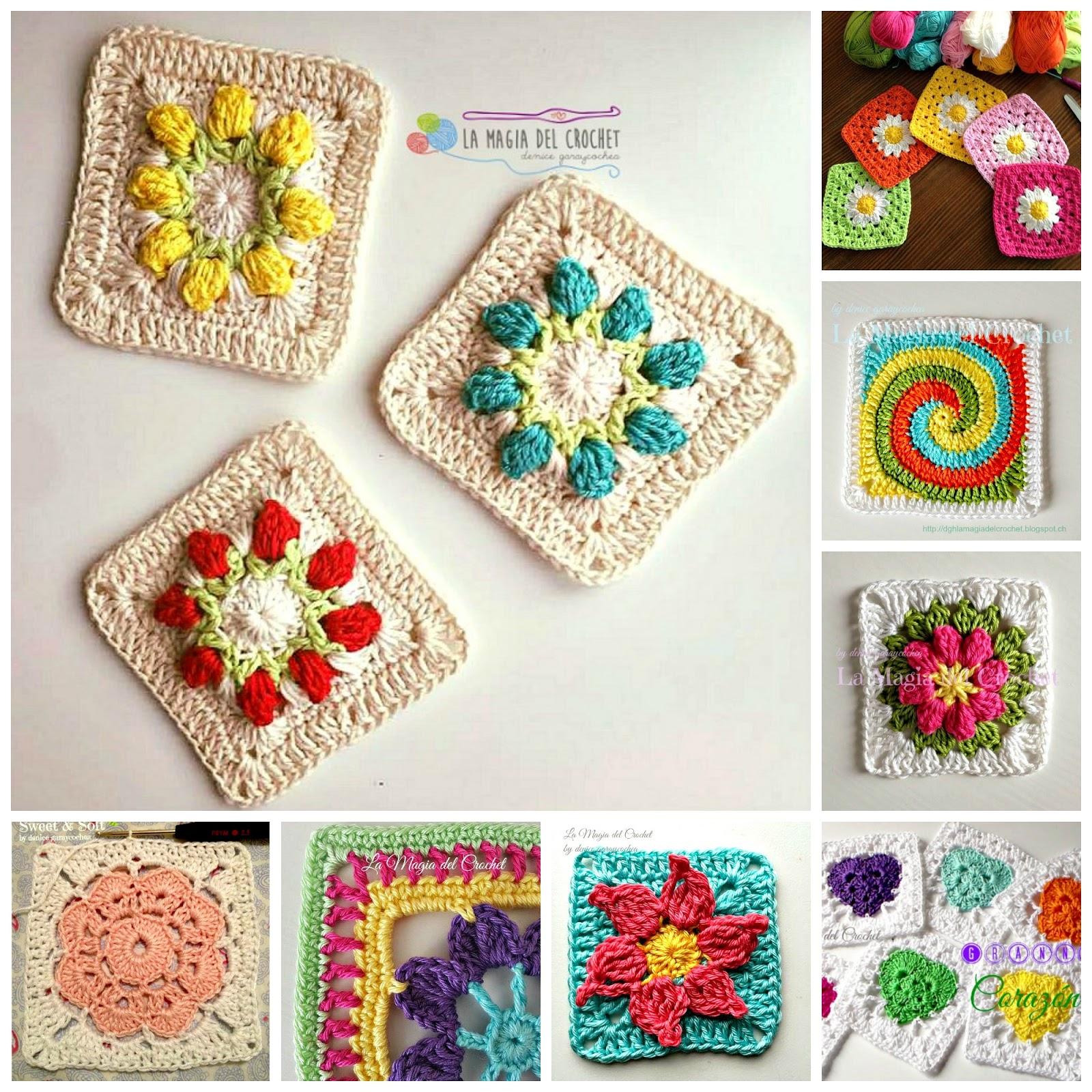 La Magia del Crochet: Los más amorosos Grannys para tus proyectos!!