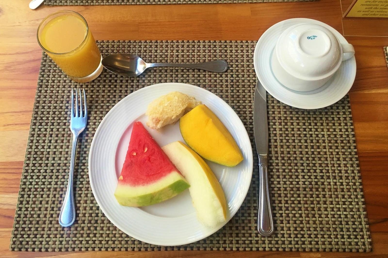 Río de Janeiro, Desayuno, fruta