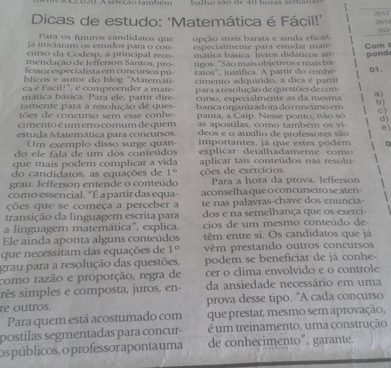Mais dicas de como estudar Matemática para Concursos Públicos