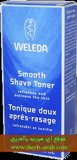 تونر قبل وبعد الحلاقة Weleda, Smooth Shave Toner, 3.4 fl oz (100 ml)