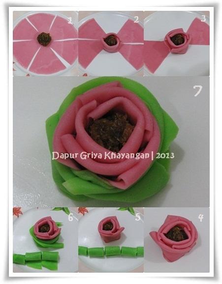 Dadar Gulung Mawar : dadar, gulung, mawar, Dapur, Griya, Khayangan:, Membuat, Dadar, Bunga, Mawar
