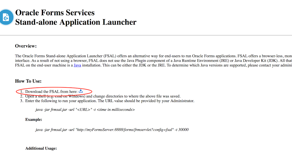 Oracle Forms Stand-alone Application Launcher (FSAL) ~ Dirk Nachbar