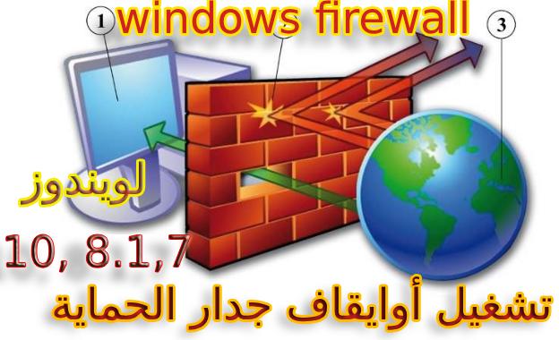 طريقة تشغيل أوايقاف جدار الحماية ، الجدار الناري Windows Firewall في ويندوز 7