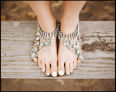 anklet Crystal and Stones Anklets