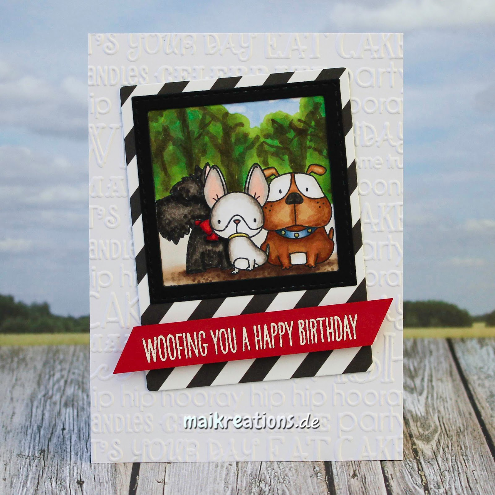 Maikreations Happy Birthday Card For A Dog Lover O