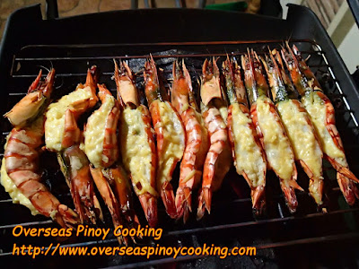 Pinoy Grilled Prawns with Garlic and Cheese - Cooking Procedure