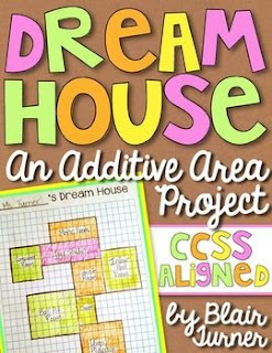 A little STEAM challenge in the lab- Design your dream house and calculate its area! Fabulous FREEBIE by Blair Turner!