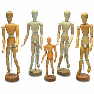 Dessiner un corps manga: mannequins en bois
