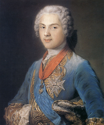 Louis, Dauphin of France by Maurice Quentin de La Tour, 1745