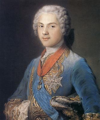 Louis, Dauphin of France by Maurice Quentin de La Tour, 1745