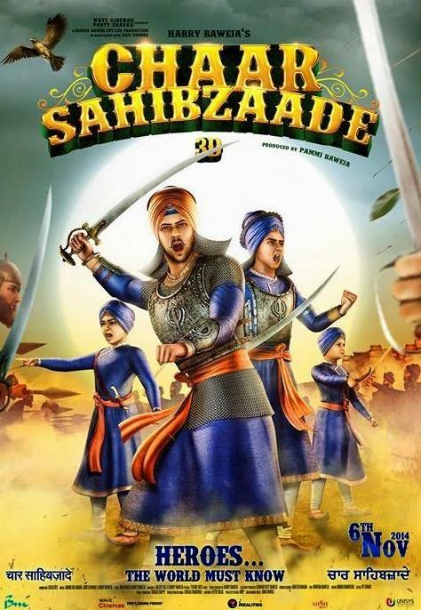 Chaar Sahibzaade 2014 Punjabi 720p WEB HDRip 900mb