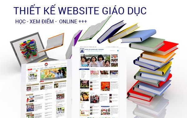thiết kế website cơ sở giáo dục và trường học