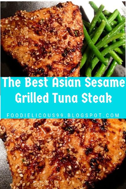 The Best Asian Sesame Grilled Tuna Steak