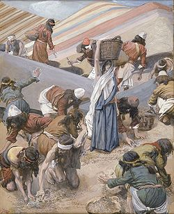 Gathering manna - James Tissot