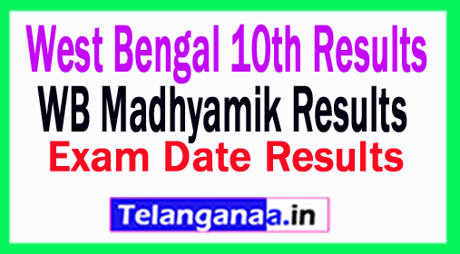 WB Madhyamik Results 2018 West Bengal 10th Results