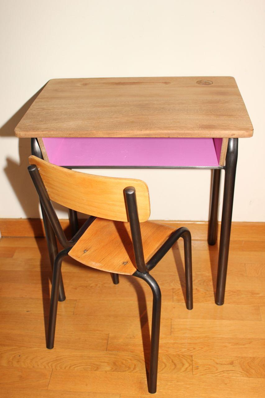 l 39 atelier des petites bauloises bureau ecolier ann e 50. Black Bedroom Furniture Sets. Home Design Ideas