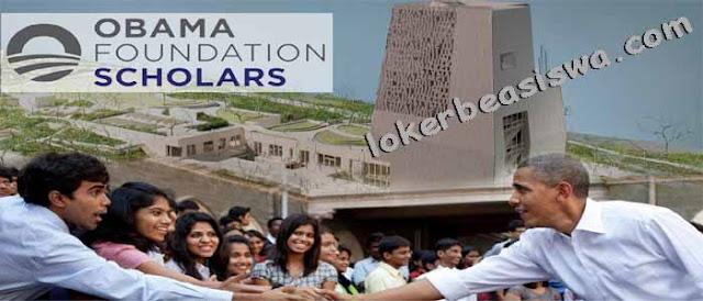 Beasiswa Penuh S2 Obama Foundation