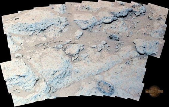 "Sol 308 Curiosity Left Mastcam (M-34) On the Way Back to ""Shaler"""