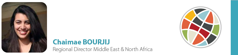 Chaimae BOURJIJ, IYF Regional Director Middle East & North Africa