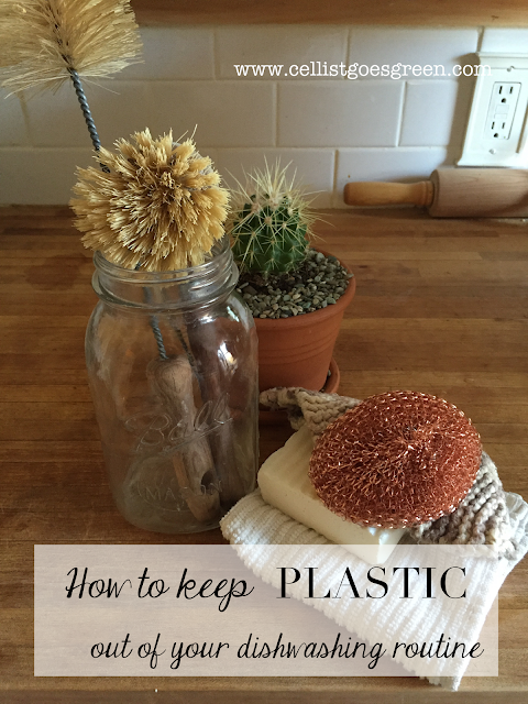How to wash dishes without plastic