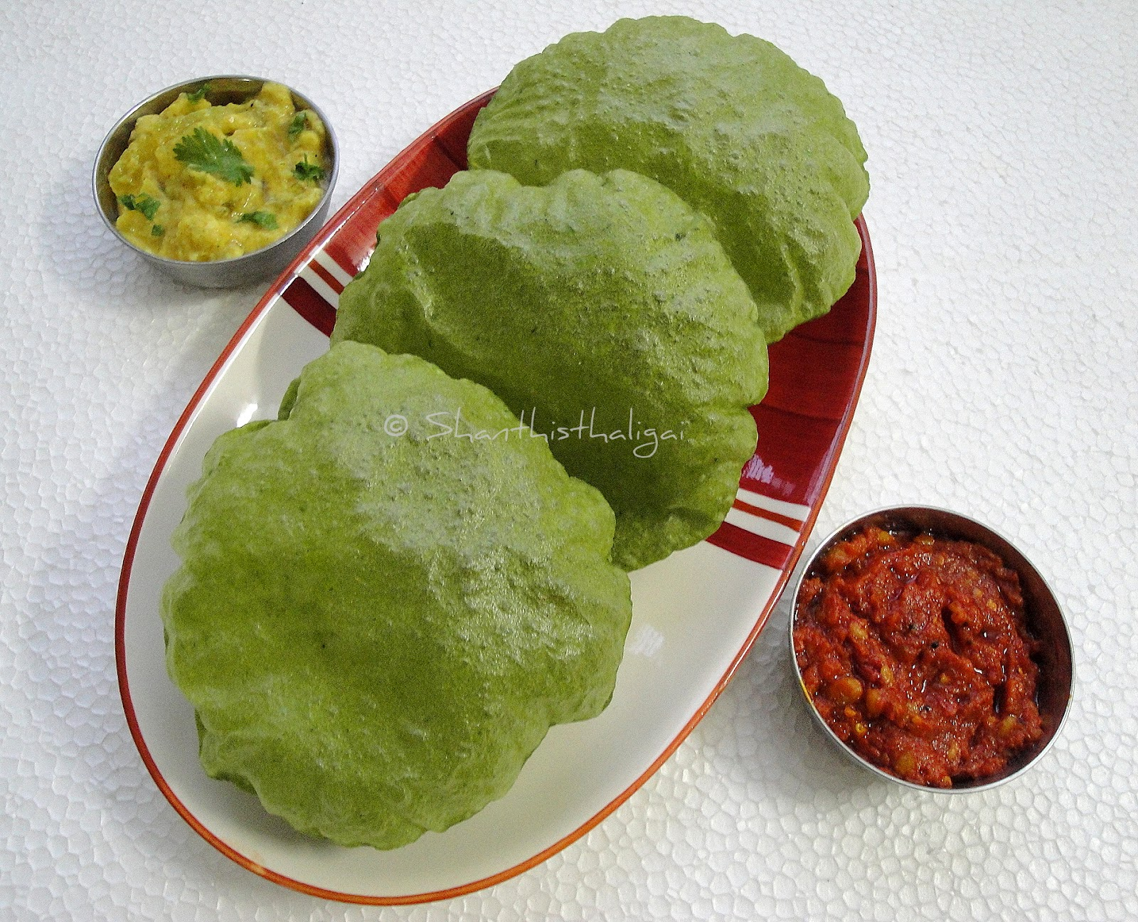 PALAK POORI, PALAK PURI, HOW TO MAKE PALAK POORI