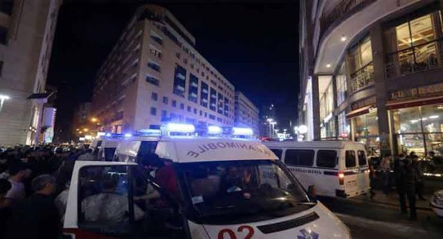 Ocho heridos tras explosión en Ereván