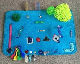how to make a baby sensory activity mat