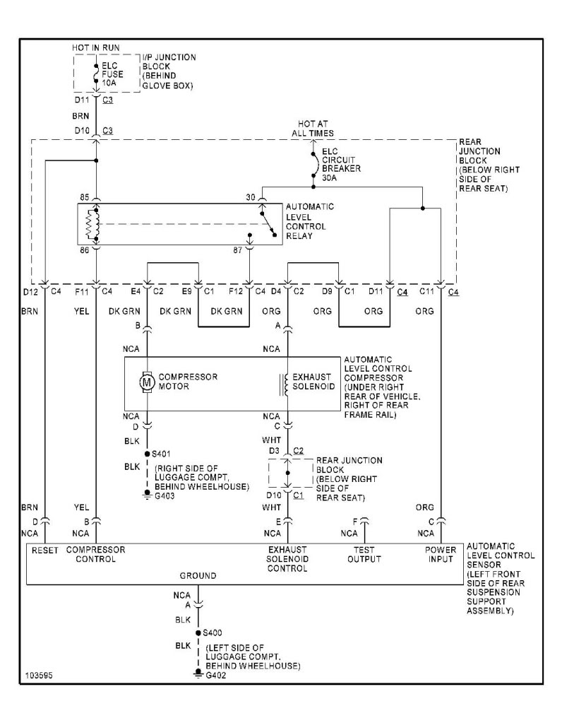 Buick Park Avenue Ultra Electronic Suspension Wiring Diagram