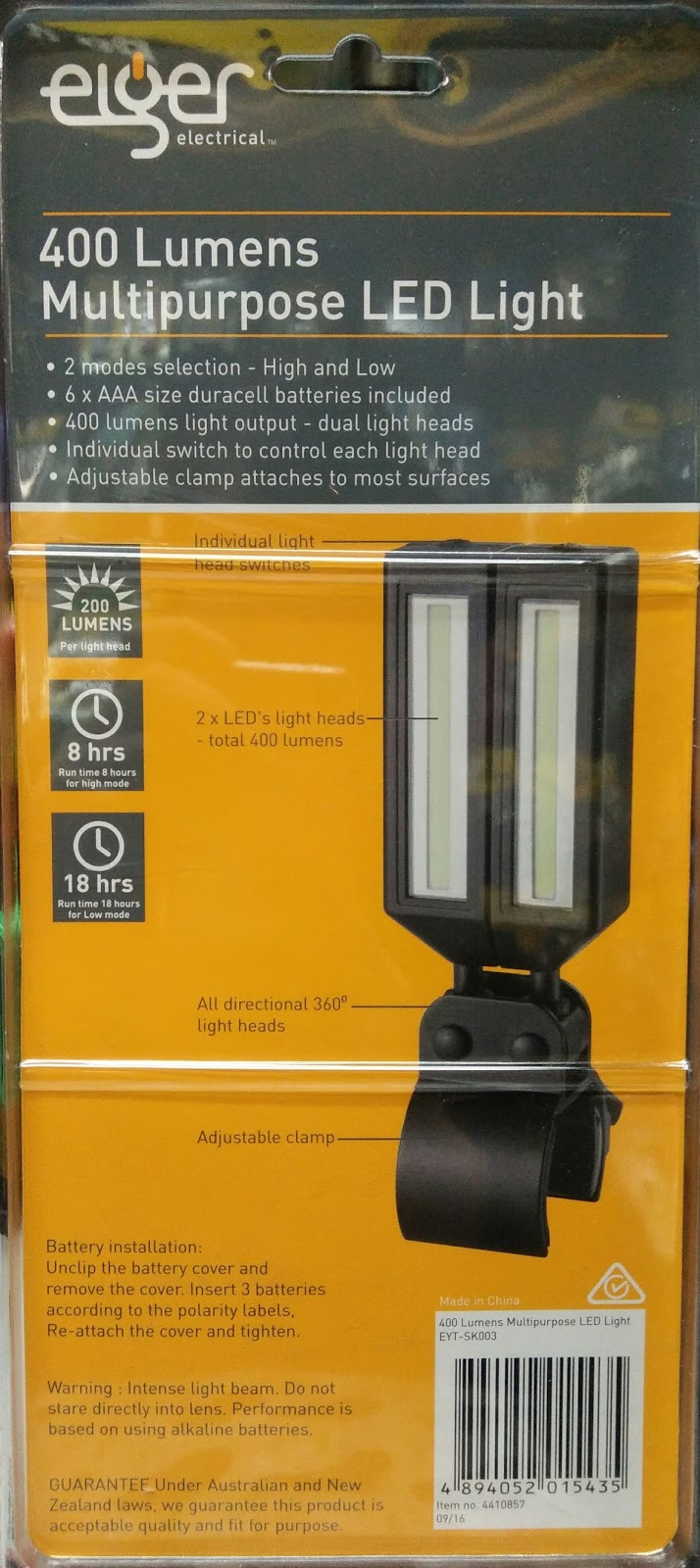 Eiger Multipurpose Led Light 400Lumens @ RM 219 & SKL DIY Uptown: Eiger Multipurpose Led Light 400Lumens @ RM 219