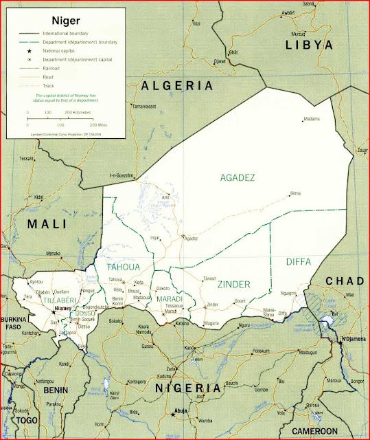 Gambar Peta politik Niger tahun 2000