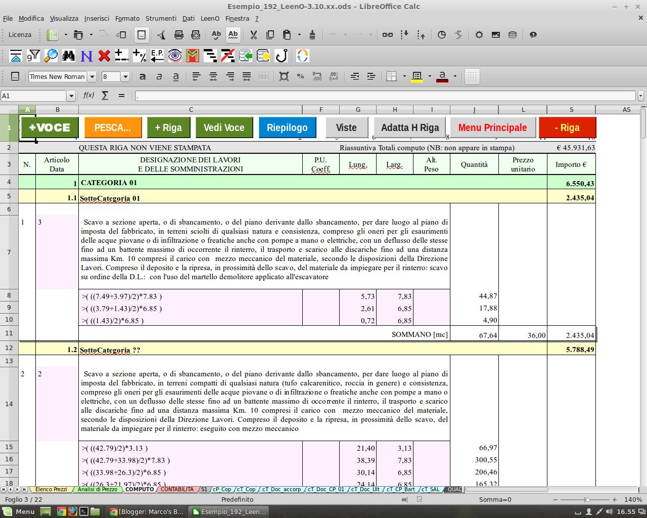 Leeno il software libero per computi metrici estimativi - Computo metrico estimativo esempio casa ...