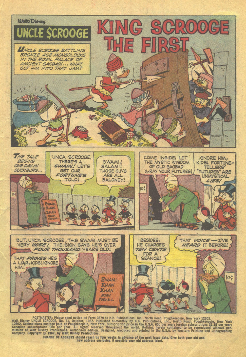 Read online Uncle Scrooge (1953) comic -  Issue #71 - 3